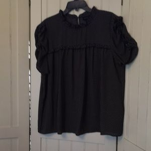 Tiny polka dot print blouse